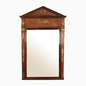 Large French Empire Style Mahogany Mirror