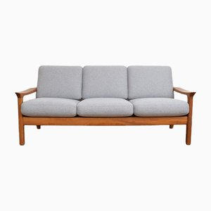 Mid-Century Danish Teak Sofa by Juul Kristensen, 1960s