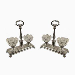 Solid Silver Salerons by Vieillard Paris, Set of 2