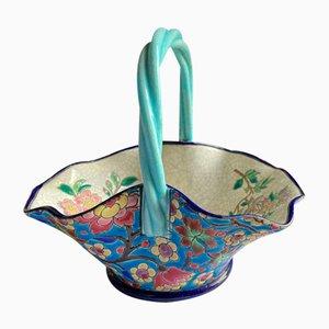 Basket from Emaux de Longwy