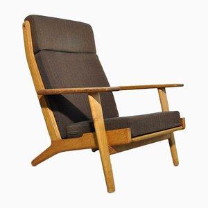 Oak GE 290 Highback Lounge Chair by Hans J. Wegner for Getama, Denmark, 1950s