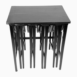 Openable Nesting Tables from Mundus, Vienna, 1910s, Set of 5