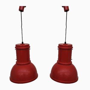 Lampara Media Lamps by Roberto Menghi for Fontana Arte, 1970s, Set of 2