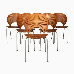 Teak Trinidad Dining Chairs by Nanna Ditzel for Fredericia, 1990s, Set of 6