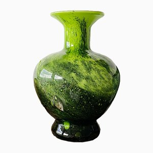 Large Mid-Century Art Glass Vase from V. B. Opaline Florence, 1970s