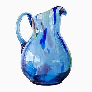 Vintage Minimalist Art Glass Pitcher by Kauno Aleksoto Stiklas, 1970s