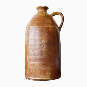Mid-Century Rustic Handmade Ceramic Bottle Vase by Allis Edel, 1960s