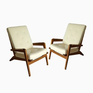 FS-105 Armchairs by Pierre Guariche, Set of 2
