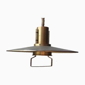 Vintage Nautical Pendant Lamp in Brass from Vitrika, 1960s