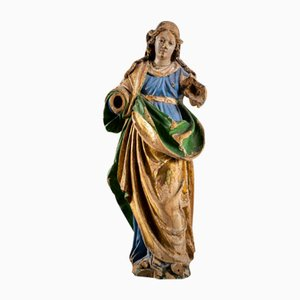 Polychrome Wooden Sculpture, Maddalena, 1600s