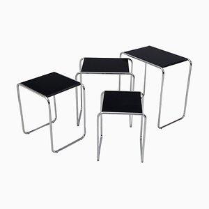 Black Nest Tables from Kovona, 1950s, Set of 4