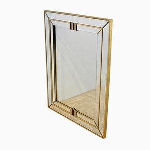 Brass Graphical Mirror from Deknudt Belgium