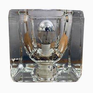 Clear Glass Cube Light from Peill & Putzler, 1970s