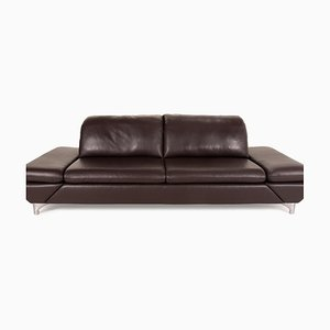 Taoo Brown Leather Sofa by Willi Schillig