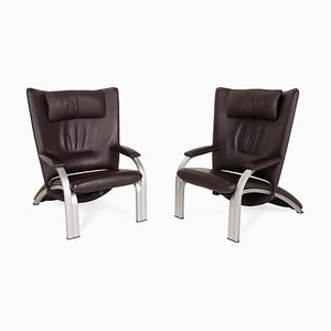 698 Leather Armchair Set from WK Wohnen, Set of 2