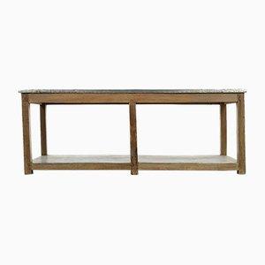 Zinc Tray Wooden Table