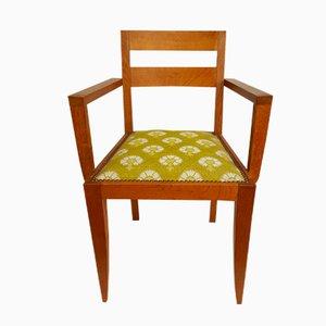 Französischer Vintage Eichenholz Beistellstuhl von René Gabriel