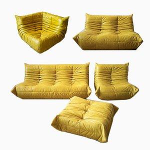 Togo Living Room Set by Michel Ducaroy for Ligne Roset, Set of 5