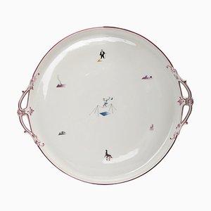 Porcelain Circus Platter by Gio Ponti for Richard Ginori, Italy, 1934