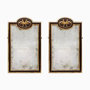 19th Century Gilt and Ebonized Mirrors, Set of 2