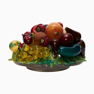 Blown & Applied Glass Still Life by Aristi Barovier, 1910s