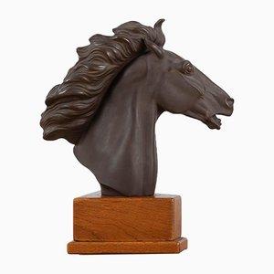 Ceramic Stallion's Head by Erich Oehme
