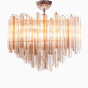 Two-Colored Murano Glass Chandelier by Venini Paoplo