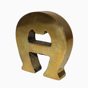 Brass Letter A from Etienne Aigner, 1960s