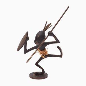 African Warrior Figure by Franz Hagenauer