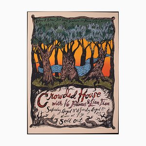 American Decorative Concert Screen Print from Crowded House