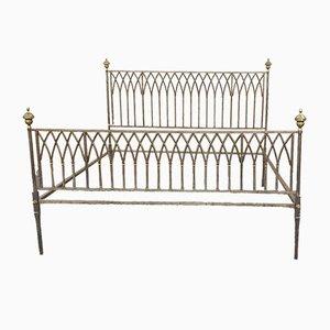 19th Century Iron & Bronze Bed