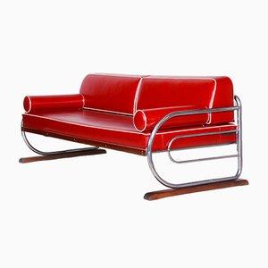 Chromed Steel Sofa from Slezak Factories, 1930s