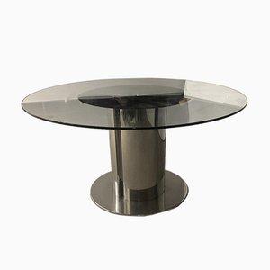 Vintage Italian Steel Dining Table, 1970s