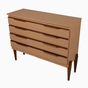 Spanish Powder Pink Wood Dresser, 1960s