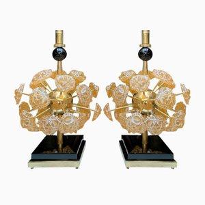 Murano Glass Lamps, 1980, Set of 2