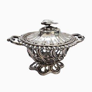 Large Silver Sugar Bowl by Alphonse Debain