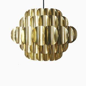 Brass Pendant Lamp by H. Zender for Temde, 1970