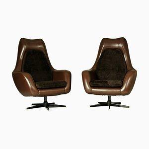 Swivel Egg Chairs, 1970s, Set of 2