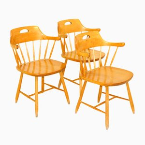 Swedish Side Chairs, 1970s, Set of 3