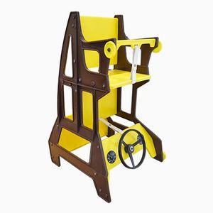 Multifunctional Yellow Children's Chair from Nuvaro Ruaro, 1970s