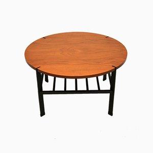 Vintage Teak & Steel Coffee Table, 1960s