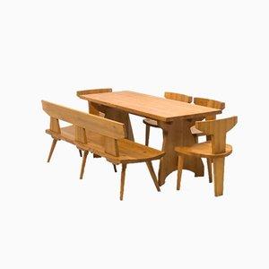 Pine Dining Set by Jacob Kielland-Brandt for I. Christiansen, Set of 6