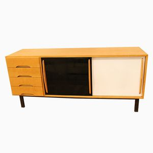 Black and White Lacquered Sideboard by Charlotte Perriand