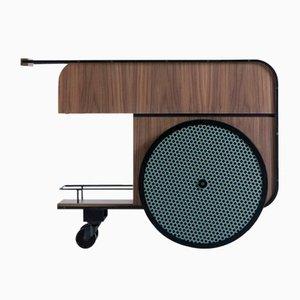 Trink Walnut Bar Cart by Studio Caramel for Kann Design, Set of 2