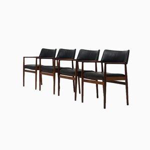 Rosewood Armchairs by Erik Wørts for Sorø Stolefabrik, Set of 4