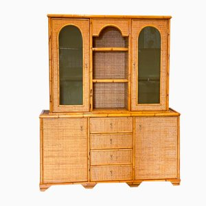 Cabinet in Bamboo and Wicker, 1970s