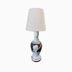 Scandinavian Ceramic Table Lamp, 1960s