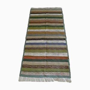 Vintage Berber Striped Hand Woven Kilim Rug