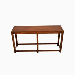 Antique Military Campaign Style Console Table