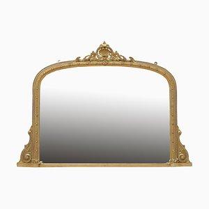 Victorian Gilded Overmantle Mirror